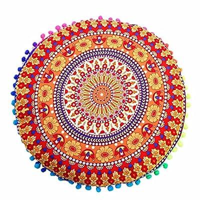 Highpot New Fashion Indian Mandala Floor Pillows Round Bohemian Cushion Pillows Cover Case Cushions