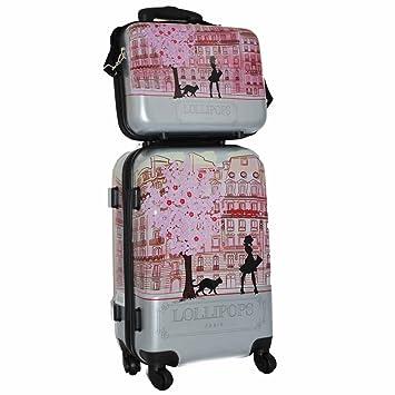 meilleures baskets 5e515 fd1cf Ensemble valise et vanity Gris Femme Lollipops: Amazon.fr ...