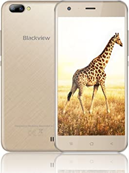 Móviles Baratos Blackview A7 Smartphones Libres Dual SIM Android 7.0 3G Dual SIM, Quad-Core, 1 GB RAM + 8 GB ROM, 2800mAh Batería,Teléfono Móvil -Oro: Amazon.es: Electrónica