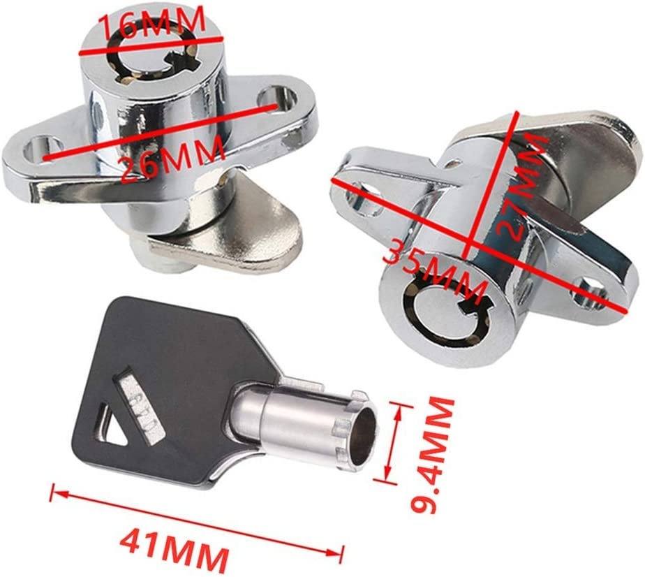 M1MI Motorcycle Hard Saddlebag Saddle Bag Lock Set with 3 Keys Fit for 1997-2013 HD Touring Road King Electra Glide