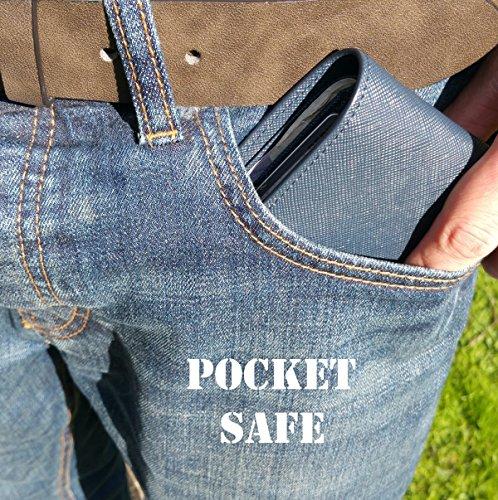 Mens Safe Pocket Uomo Blue Portafogli Navy 5UnHwqg1d
