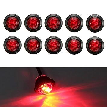 Gelb VIGORFLYRUN PARTS LTD 10pcs 3 LED Seitenmarkierungsleuchten Rund Abstand Licht 3//4 Umrissleuchte Begrenzungsleuchte Positionsleuchte f/ür 12V 24V LKW Anh/änger Bus Van Parkleuchten