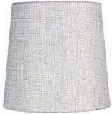 5x6x5 Khaki Burlap Drum Chandelier Clip-On Lampshade By Home Concept - Perfect for chandeliers, foyer lights, and wall sconces -Small, Khaki