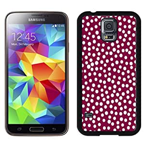 NEW DIY Unique Designed Samsung Galaxy S5 Phone Case For Polka Dots with Red Background Phone Case Cover