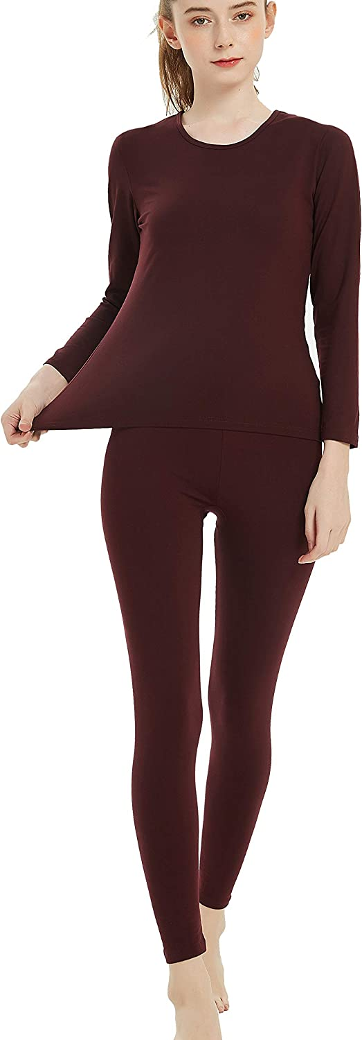 Byruze Thermal Underwear for Women Cationic Self-Heating Long Johns Women's Ultra Soft Warm Base Layer Set