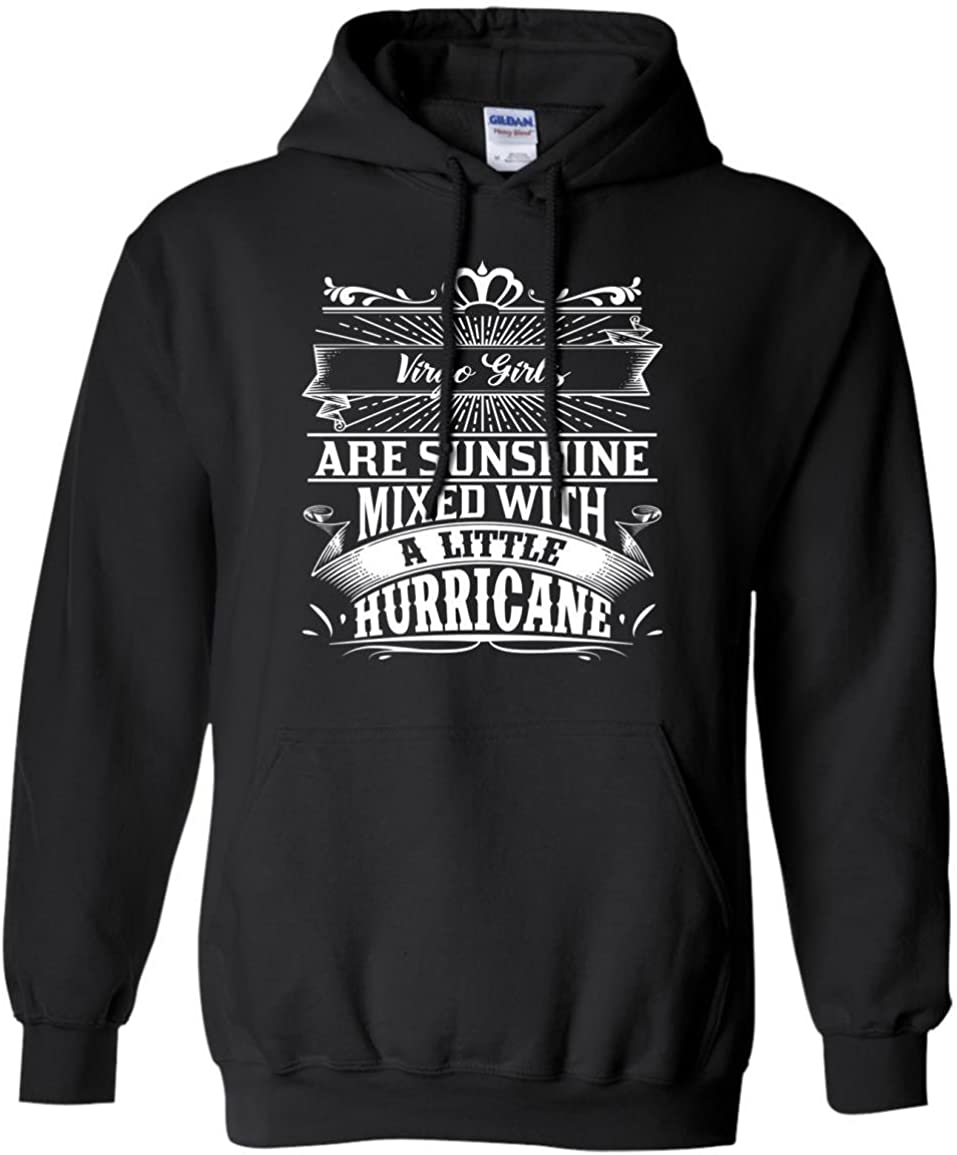 Favorystore Virgo Girls Are Sunshine Mixed With a Little Hurricane Hoodie