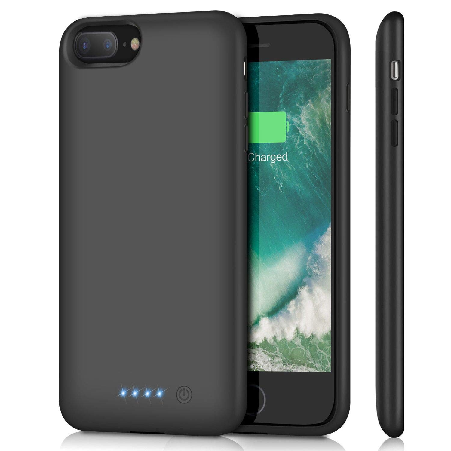 Battery Case for iPhone 8 Plus/ 7 Plus 8500mAh,Upgraded HETP Protective Rechargeable Extended Battery Pack for iPhone 7Plus Charging Case for Apple iPhone 8Plus Portable Power Bank (5.5 inch ) - Black by HETP