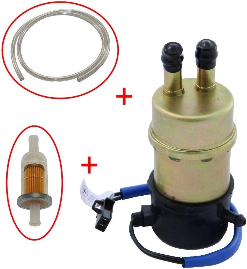 Kraftstoffpumpe Benzinpumpe Set Inkl Filter Schlauch Für Honda Cbr Nt Ntv Vfr Vt Xl Xrv Kawasaki Ninja Zx600 Zx 6r Zx 6 Zx 7 Zx 7r Zx 9 Zx 11 Zzr600 Suzuki Rf Vl Vs Vz Yamaha