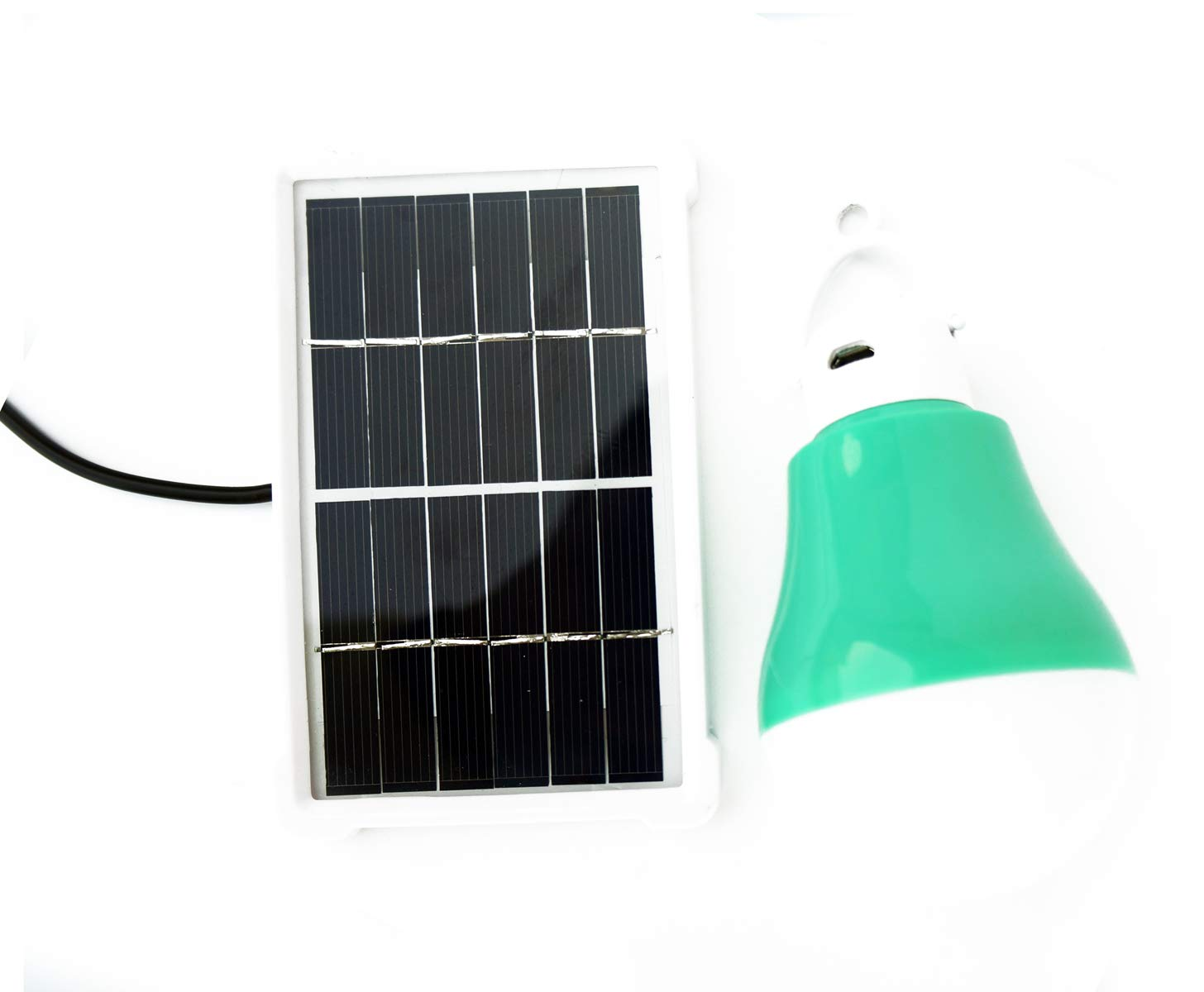 Solar Bulb Lights,Rechargeable Lights Solar Panel Powered Shed Light 5W Portable Led Bulbs Light Charged Solar Energy Lamp Home Lighting for Indoor Outdoor Camping Garden Emergency Lighting