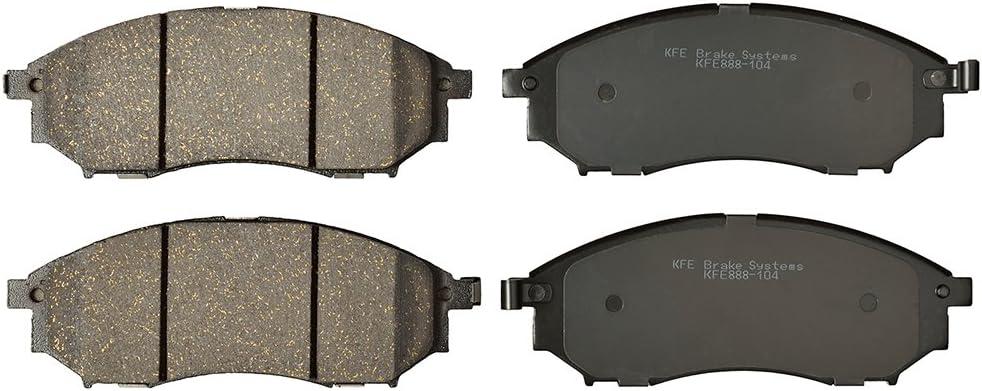 Front Rear Brake Rotors Ceramic Pads For 06-09 Nissan 350Z Infiniti M35 3.7L V6