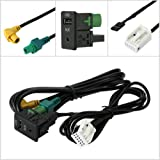 Eximtrade USB 3,5mm AUX Bouton Douille RNS315 RCD510 RCD310 RCD300 pour Volkswagen VW MK6 Golf 6 Scirocco Jetta