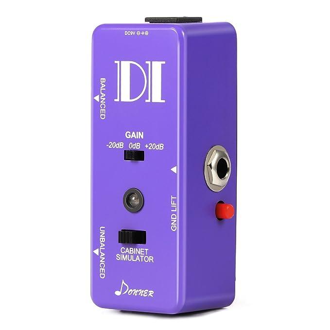Donner Guitarra Bass pasivo Di caja Instrumento para simétrico y asimétricas Micro Direct Box pedal: Amazon.es: Instrumentos musicales