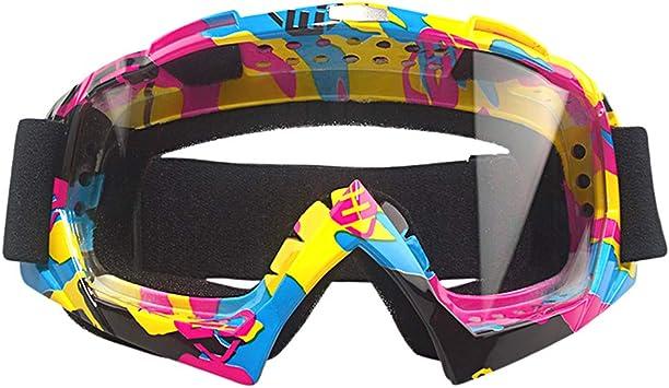 MOOREAXE Motorbike Sunglasses,Motorcycle BMX Bike ATV Dirt Bike Scooter Riding Motocross Off Road Goggles Glasses eyewear Ventilation Breathable Anti-fog Lens Protective Gear Goggles Glasses