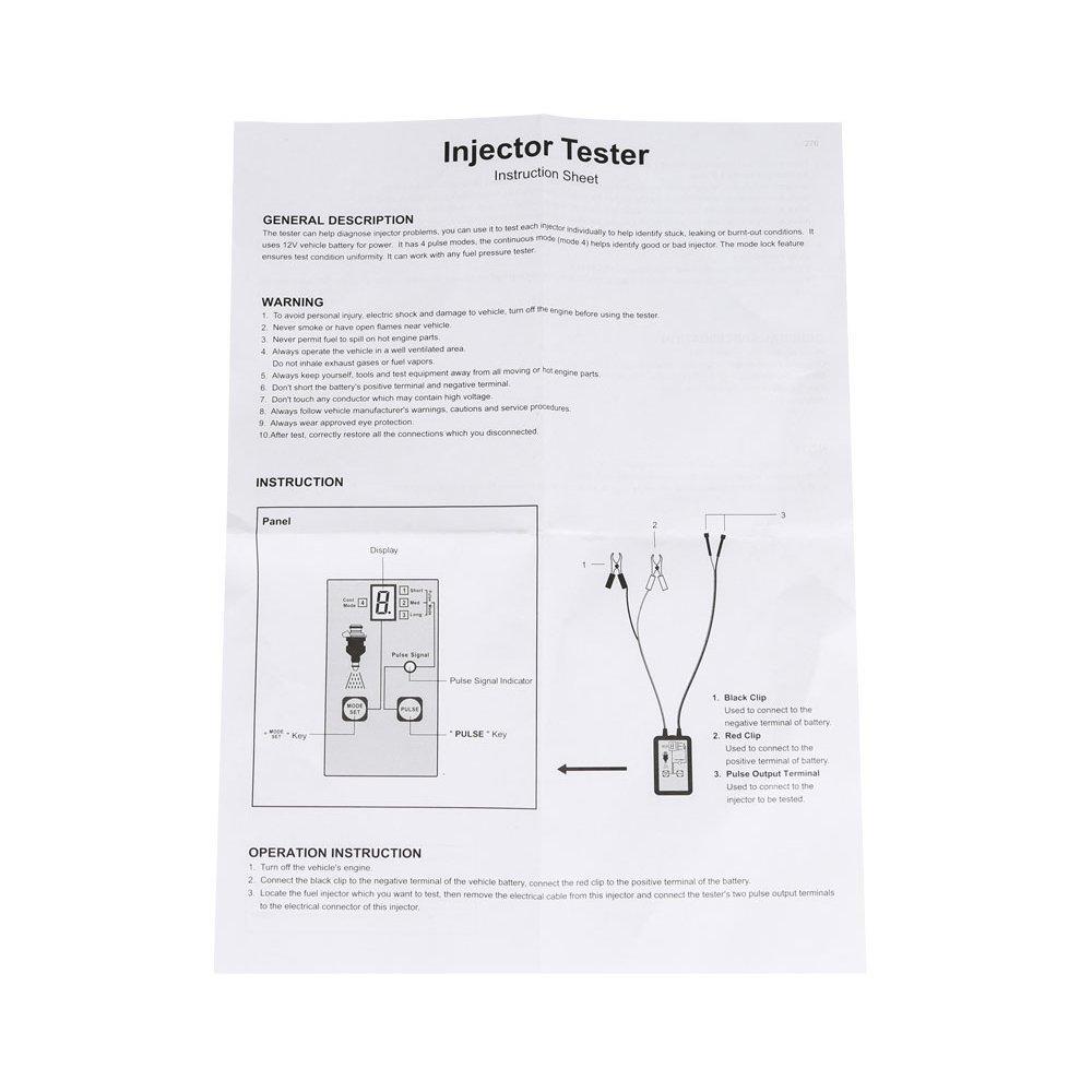 Kolsol Em276 Automotive Injector Tester 4 Pluse Modes Vw 2 0 Aeg Engine Diagram Powerful Fuel System Scan Tool