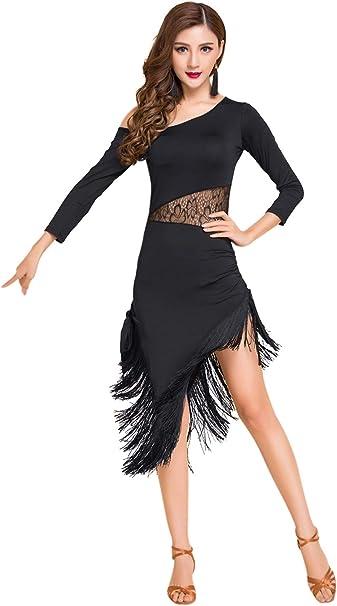 Amazon.com: ZX - Disfraz de baile latino con flecos para ...
