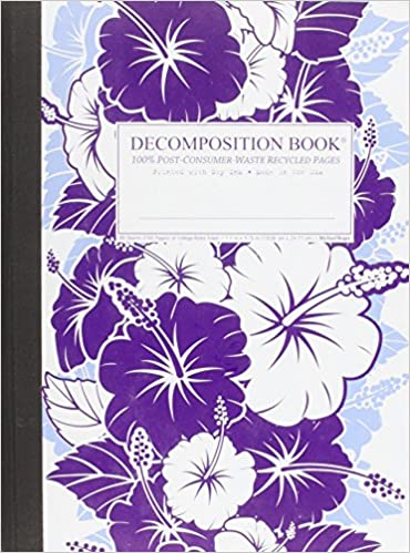 Purple Hibiscus Large 2 Color Decomposition Ruled Book Inc Michael