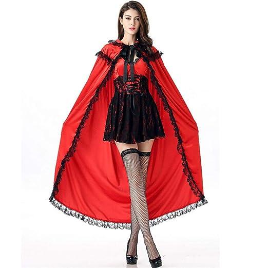 QIANDING shengdan Señoras Caperucita Roja Disfraz de Halloween ...