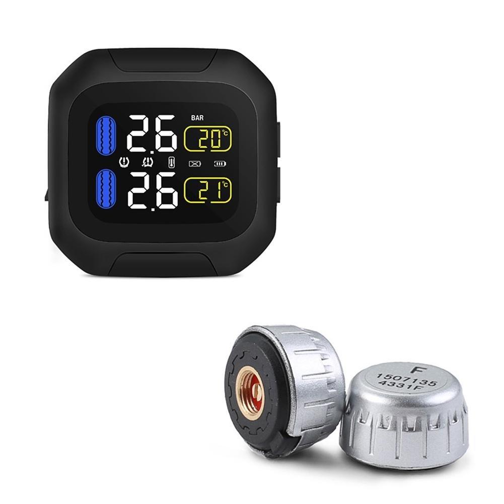 shewt Sistema de monitoreo de la presión de los neumáticos de la Motocicleta CAREUD Súper Impermeable Sistema M3 TPMS de protección Solar con Sensor Externo
