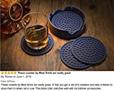 Enkore Drink Coasters Silicone Set of 6 With