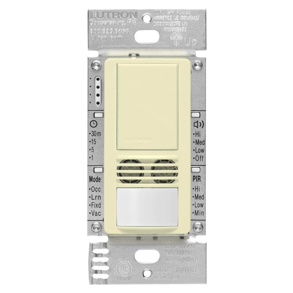 lutron ms a102 wh maestro dual tech occupancy sensor switch no lutron ms a102 wh maestro dual tech occupancy sensor switch no neutral required 6 amp single pole white amazon com