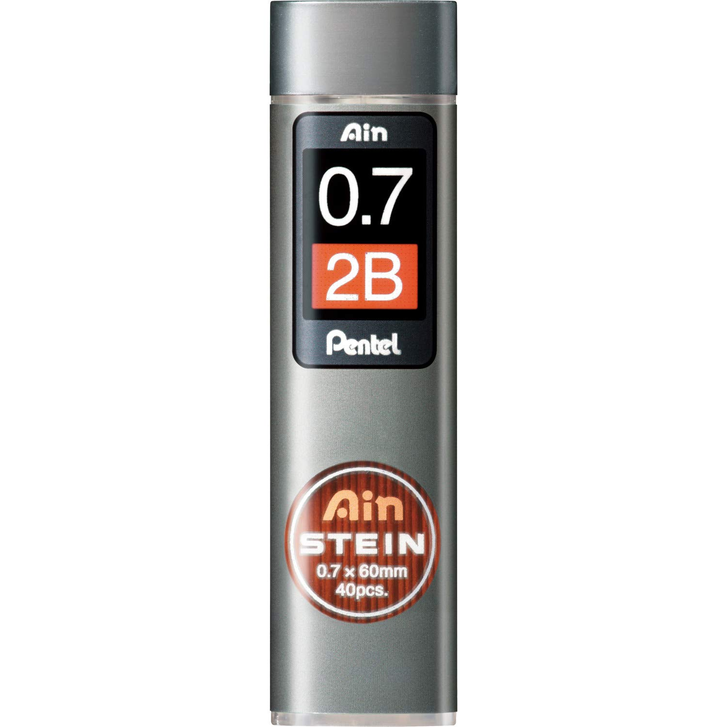 Pentel Mechanical Pencil Lead, Ain Stein, 0.7mm, 2B (C277-2