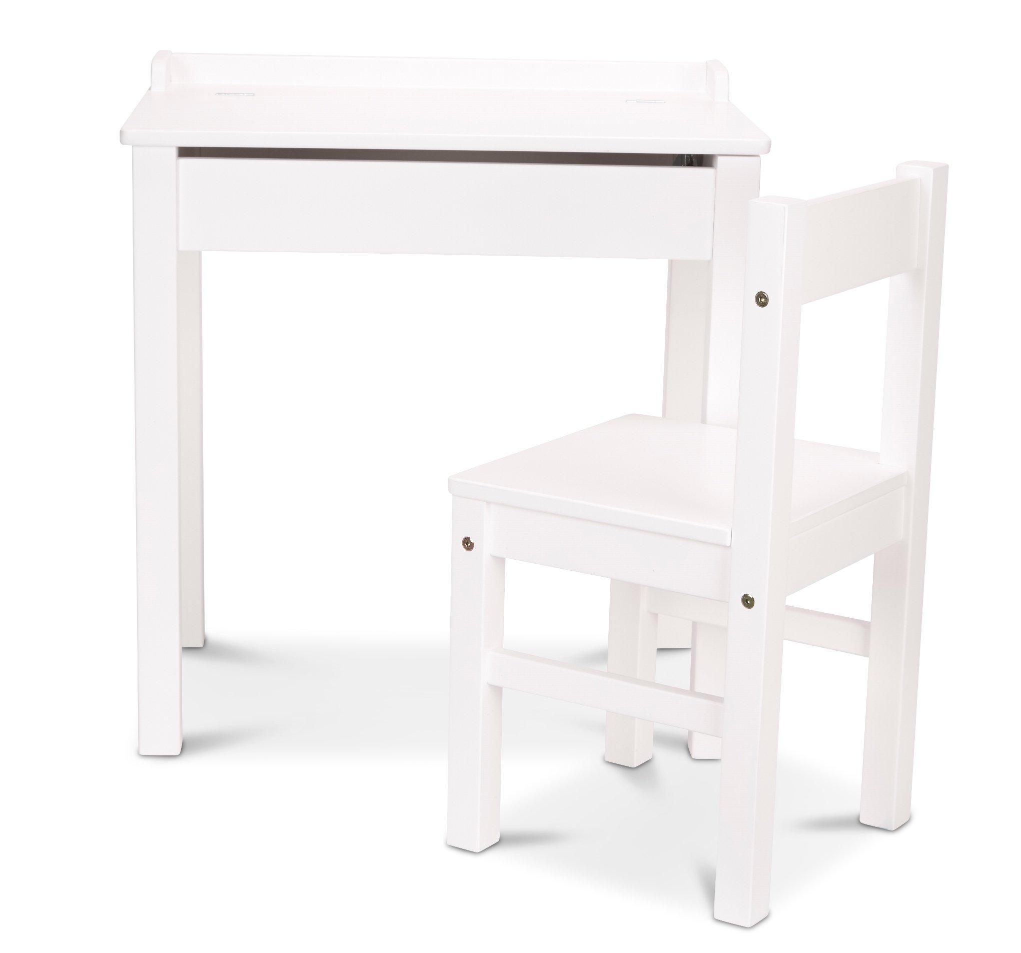 Melissa & Doug Desk & Chair - White Children's Furniture