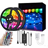 LED Strip Lights 10M/32.8FT 300 LEDs SMD5050 RGB Strip Lights Waterproof Rope Lights Color Changing Tape Light Kit with…