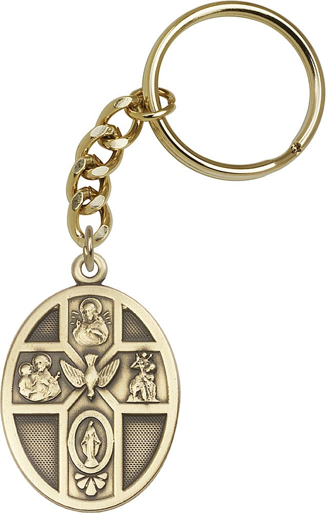 14kt Yellow Gold Filled 5-Way / Holy Spirit Keychain