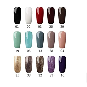 Amazon Com Fashion Zone Gel Nail Polish Set Nude Glitter