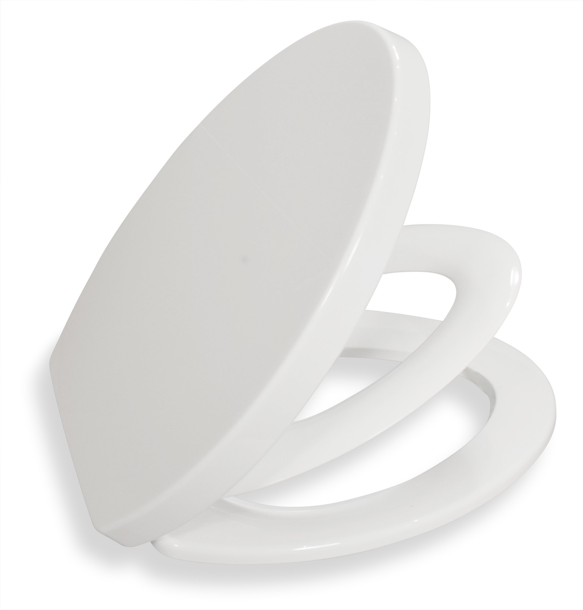 Bath Royale Premium Elongated Family Toilet Seat with Built-In Child Seat and Cover, White, Slow-Close, Quick-Release for Easy Cleaning. Fits All Elongated Toilets