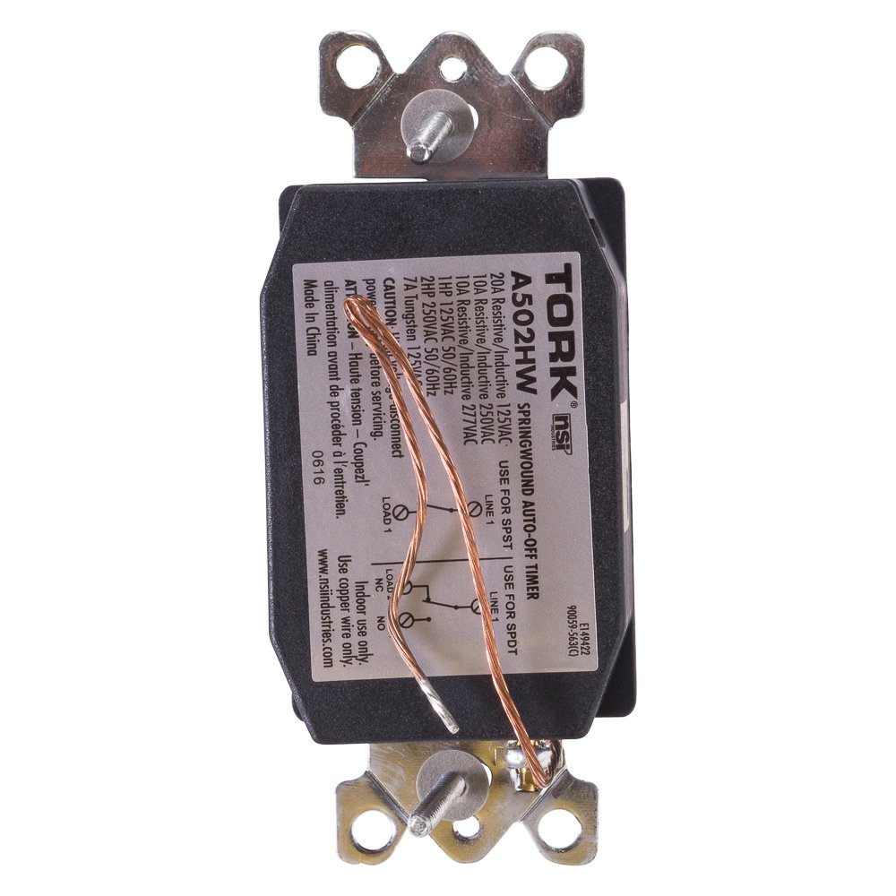 A Series Springwound Auto Off In Wall Time Switch 2 Hours Timer Amplifier Circuit Length White Industrial Scientific