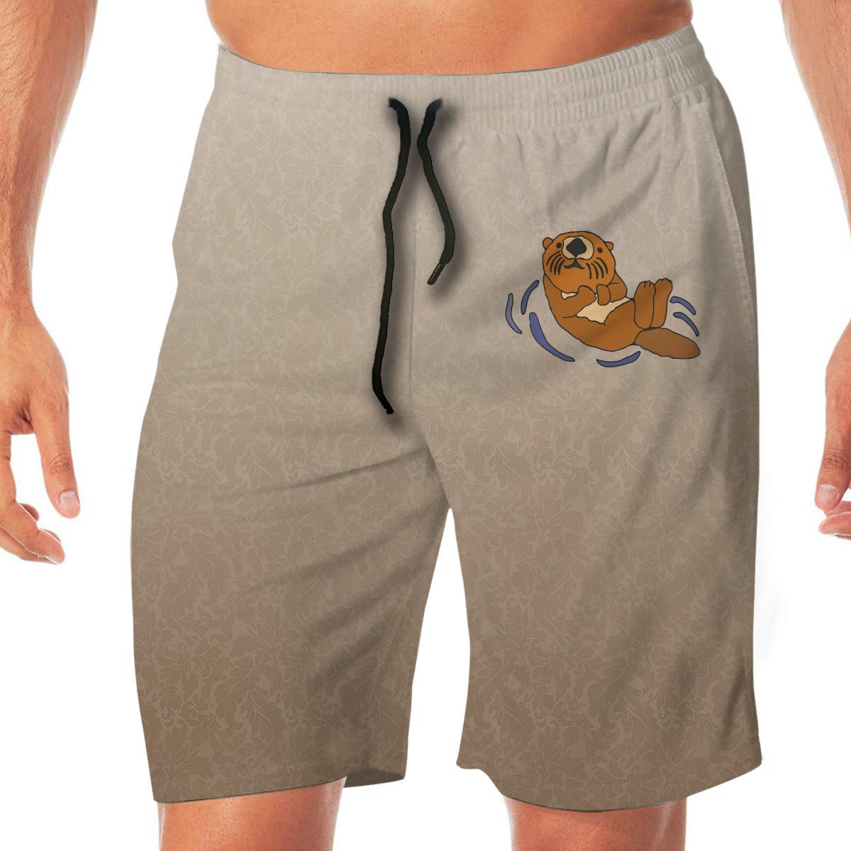 CZD89 Floating Sea Otter Surfing Shorts Quick Dry Beach Holiday