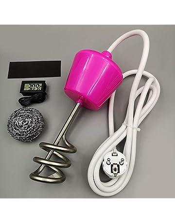 Delicacydex Calentador de Agua con Calentador de Agua para Piscina de 2000W con termómetro - Amarillo