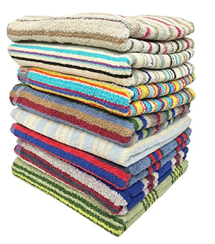 "Ruthy's Textile 3-Pack 28"" X 57"" 100% Cotton Bath Towels - 100% Cotton Machine wash warm with colors. Tumble dry. Do not bleach. Each towel measures 28"" x 57"" each towels weight 1.1 lbs - bathroom-linens, bathroom, bath-towels - 61ael4E4cML -"