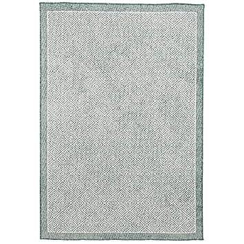 Alfombra de Interior y Exterior Verde Moteado Doble Cara -Tejido Llano 5 tama/ños Pergamon Hampton