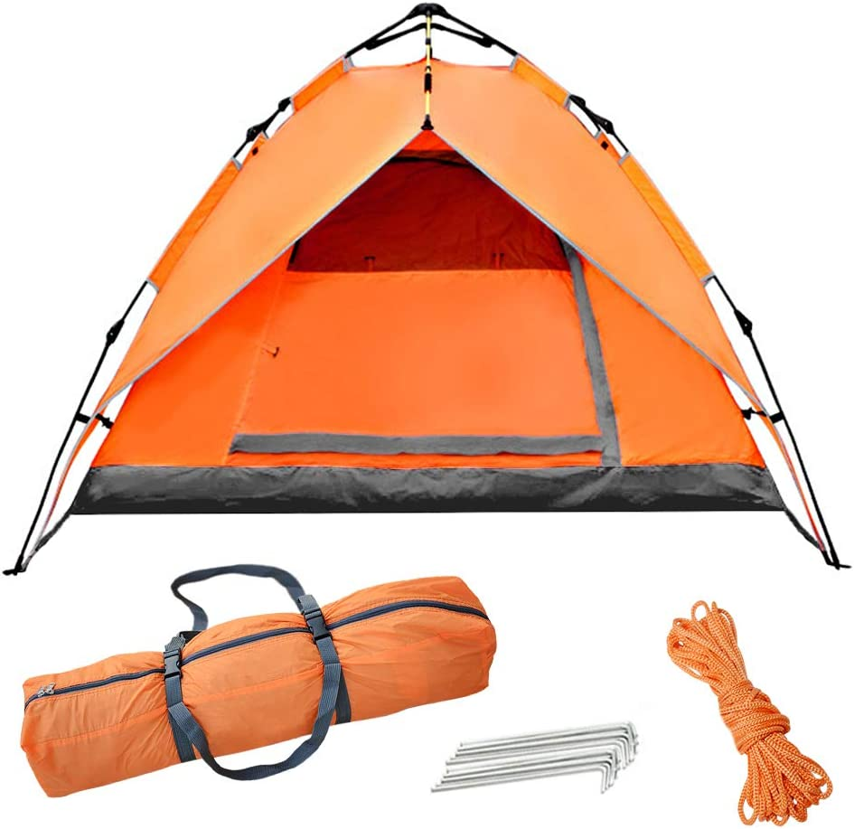 3-4 Persons Double Layers Auto Pop Up Camping Tent Hiking Instant Large Tent SL