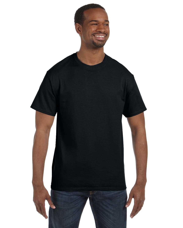 Gildan Men's Heavy Taped Neck T-Shirt Pack 10, Black, XXXX-Large
