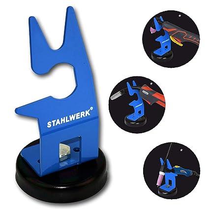 STAHLWERK - Soporte para quemador de soldadura con soporte magnético, soporte universal para WIG,