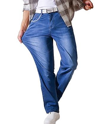 Heheja Taille Jeans Homme Élastique Haute Grande Pants Loisir xWWSrZRn
