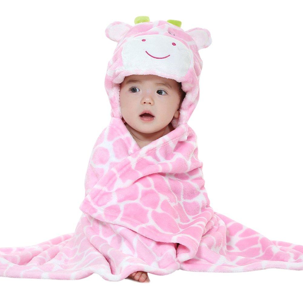 DINGANG asciugamano da bambino o neonato con cappuccio per bagnetto, telo doccia, poncho da bagno, motivo costellazione (Giraffa) Dingang® primavera e autunno per bambini unisex