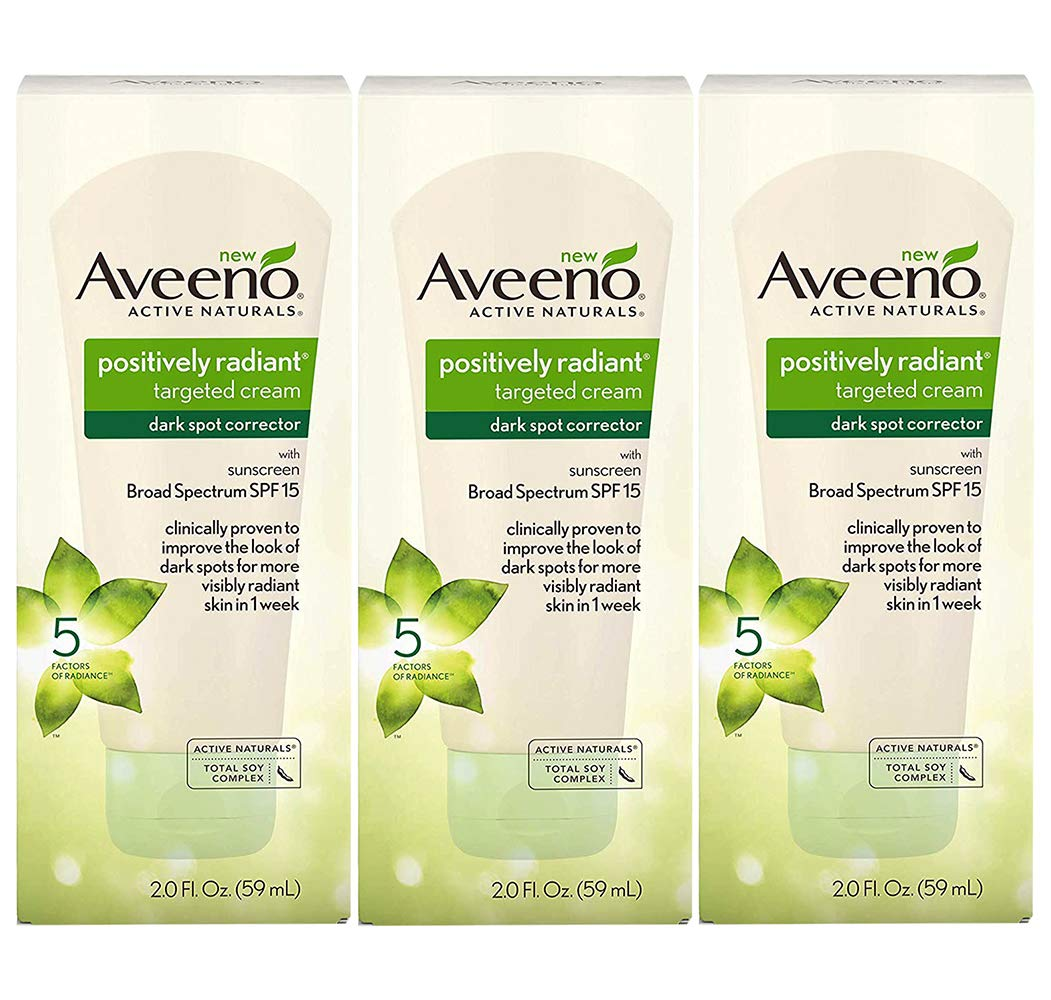Aveeno Positively Radiant Dark Spot Corrector Spf#15 2 Ounce (59ml) (3 Pack)