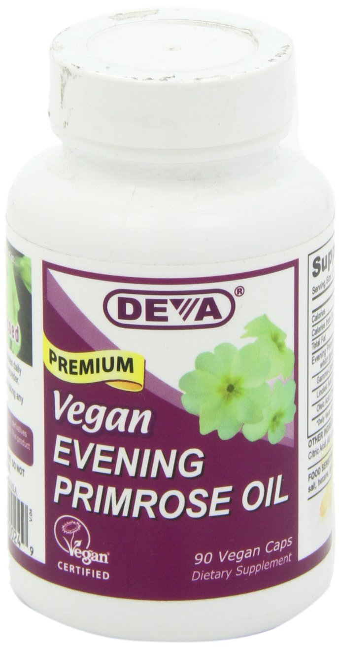 DEVA Vegan Vitamins Vegan Evening Primrose Oil Vcaps, 90-Count Bottle: Amazon.es: Salud y cuidado personal