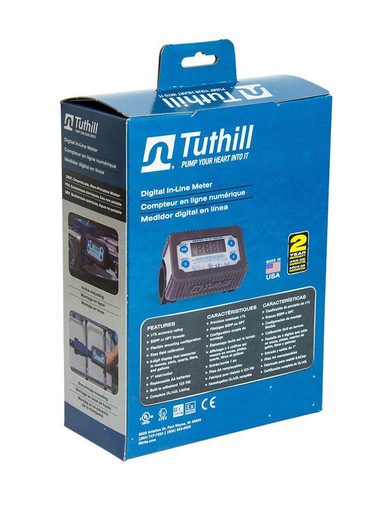 Tuthill TT10PB 2-35 GPM Inline Digital Turbine Chemical Meter