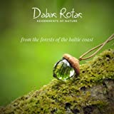 Dabas Rotas Baltic Acorn Pendant Necklace for Women and Men. Handmade Latvian Gift of Moss Jewelry for Motherhood, Maternity, or as Spiritual Unique Gifts Set in Eco Resin