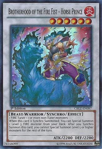Super Rare New Brotherhood of the Fire Fist Horse Prince CBLZ-EN097