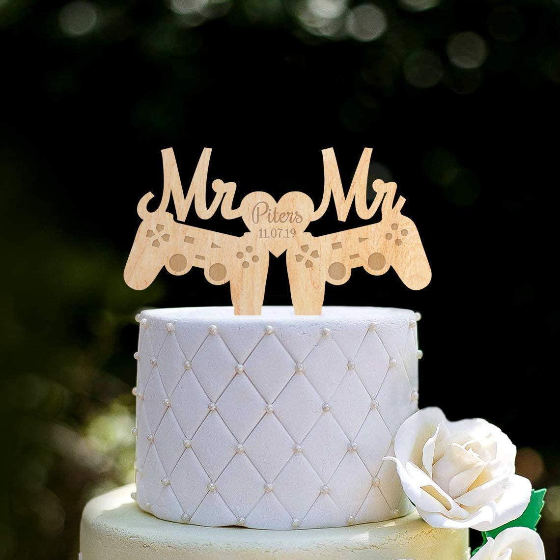 Remarkable Video Game Wedding Mr And Mr Toppergamer Wedding Gay Cake Funny Birthday Cards Online Overcheapnameinfo