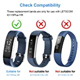 LETSCOM Replacement Bands for Fitness Tracker