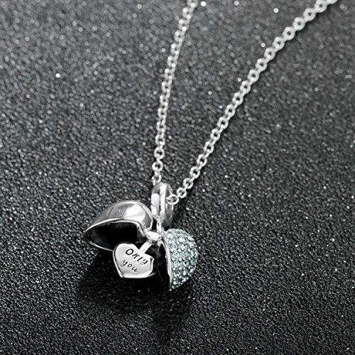ac58ba6ca843 Globalwin I Love You de charms Beads – Plata 925 Corazón Cristal Charm- para  adaptarse