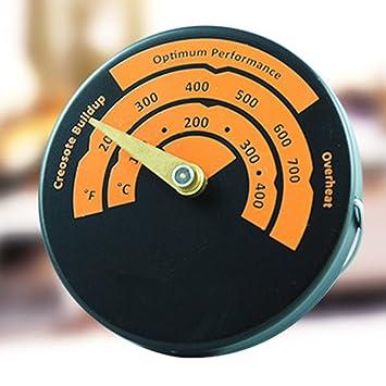 Compra Sdkmah9 Termómetro de Estufa magnético, Lectura Rápida, Aleación de Aluminio, medidor de Temperatura del Horno, Termómetro de Estufa de Tubo ...