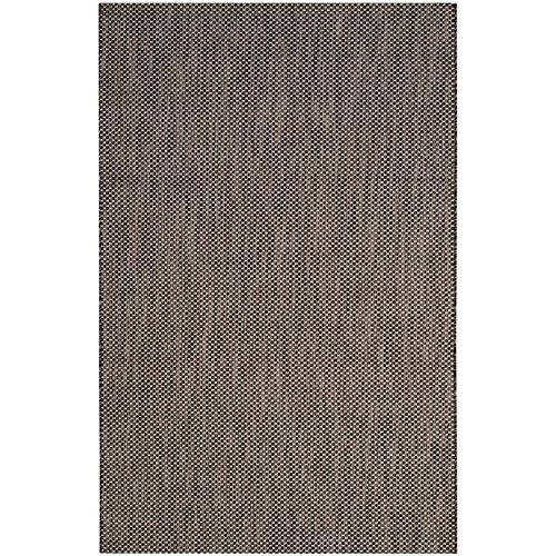 Safavieh Courtyard Collection CY8521-36621 Black and Beige Indoor/ Outdoor Runner (2'3'' x 12') by Safavieh